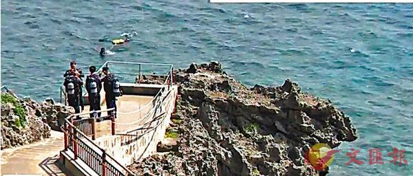 ■日本當地傳媒報道一名港人在沖繩恩納村的真榮田岬潛水死亡意外。 網上截圖