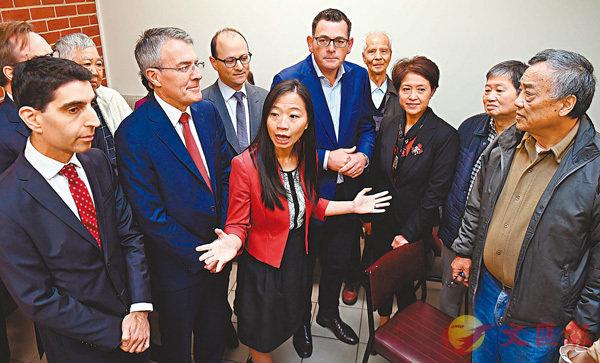 ■來自台灣的楊千慧(中)強調要增加對教育和醫療的投入。法新社