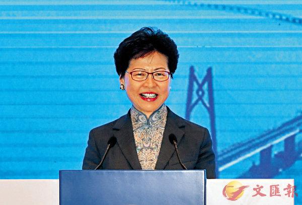 ■ 香港特區行政長官林鄭月娥出席首屆粵港澳大灣區媒體峰會開幕式,並在峰會上致辭。