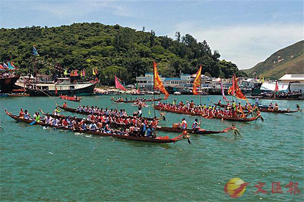 ■香港龍舟大賽。 作者提供