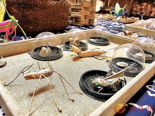 ■因為現代人已不再使用蓑衣,所以李祝意創作出新式棕編工藝品以延續這門手藝。
