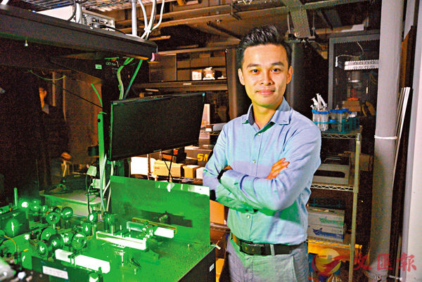 ■謝堅文與加州柏克萊合作開發新型光學腦部成像平台。 港大供圖