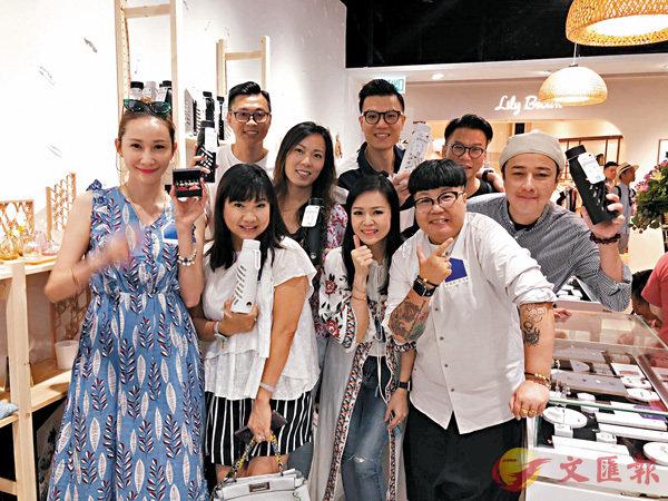 ■路芙品牌獲得一班朋友、中學同學,以及明星到場支持。 作者提供