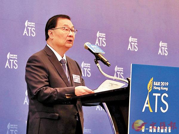 ■譚耀宗相信香港能為國家和「一帶一路」各國的農食品產業打開國際市場。