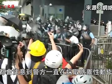 三度反問 林鄭強力反擊外國記者挑釁