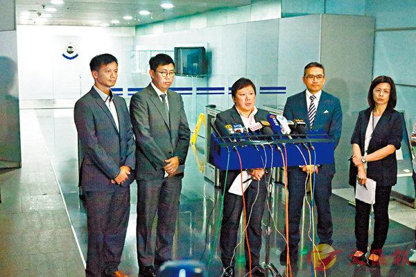 ■左起:徐錫漢、鍾健禮、林曉彤及丘紹箕。 香港文匯報記者殷翔 攝