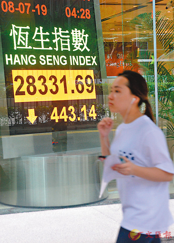 ■港股昨日迎來近1個月以來的大跌,其中更有多間民企股價大瀉。 中通社