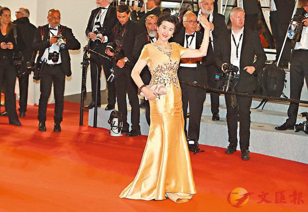 ■王小瑞在第72屆戛納電影節上走紅毯。