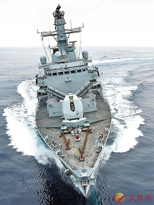 ■英軍巡防艦「蒙特羅斯」號據報曾將槍口對準伊朗船隻。 法新社