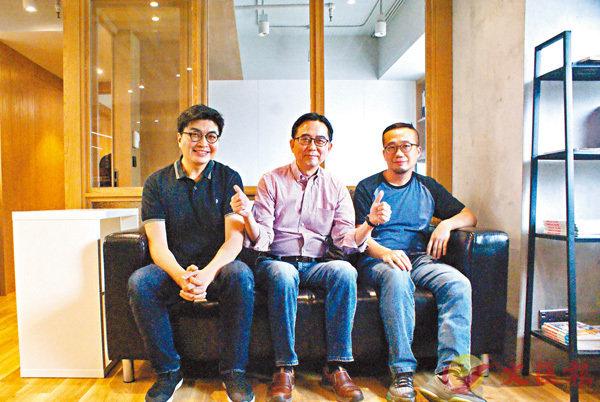 ■(左起)鄒榮肇、厲河及袁建滔分享創作及拍攝點滴。 朱慧恩 攝