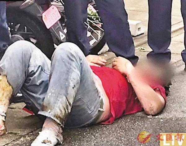 ■網上流傳疑犯遭警方拘捕時的片段。 網上圖片