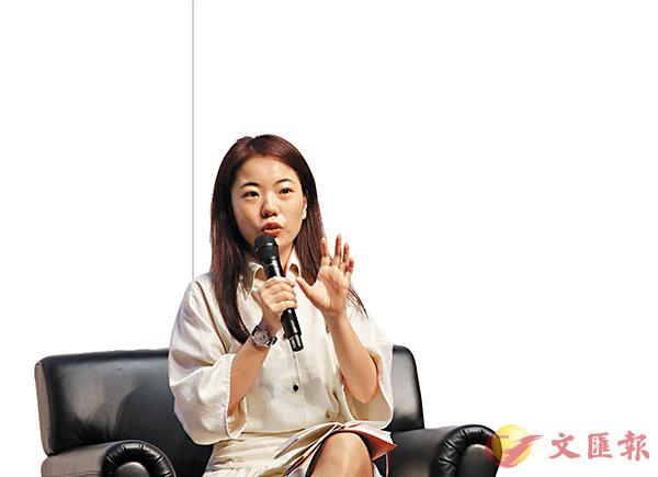 ■蔣方舟在香港書展的講座討論了幸福與痛苦對於個人的選擇。