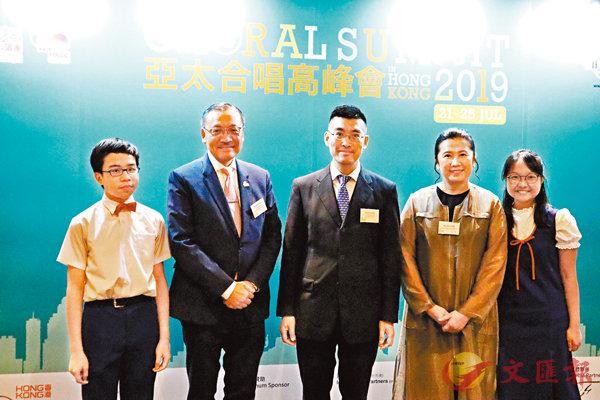 ■「香兒」董事會主席任德煇、50周年活動籌委會主席李日華和音樂總監霍嘉敏等人出席記招。