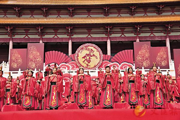 ■漢唐集體婚禮現場。香港文匯報記者劉俊海  攝