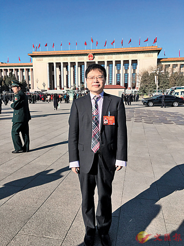 ■龔勝生出席全國政協會議。 受訪者供圖
