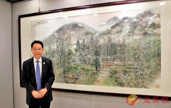 ■海外中國美術家協會主席蕭暉榮。
