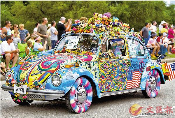 ■嬉皮士的甲蟲車。 網上圖片