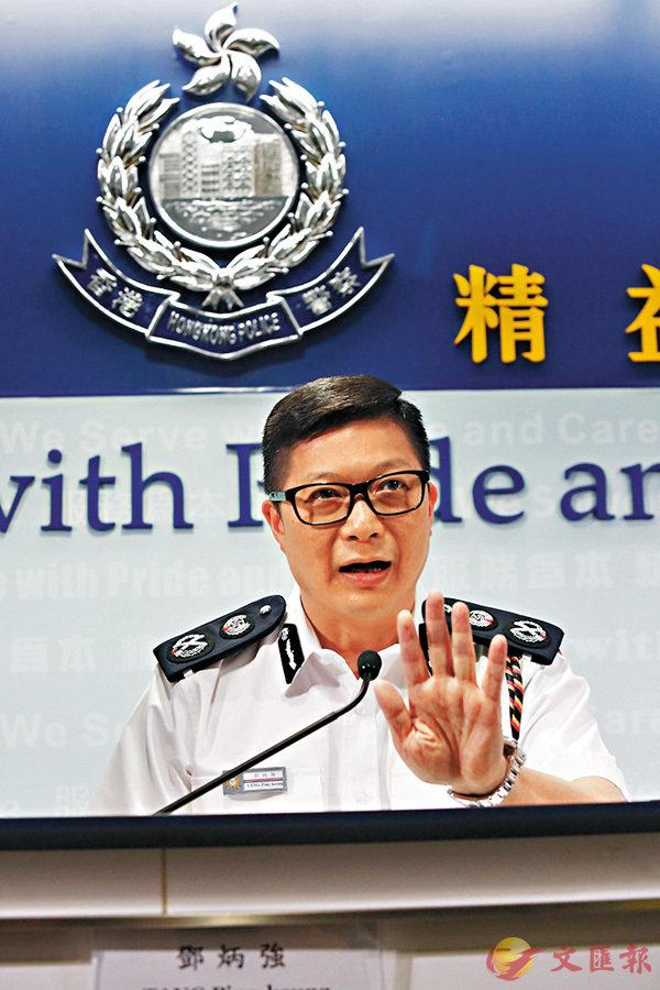■鄧炳強強調,警員喬裝執法,絕不會作出任何違法行為。 香港文匯報記者  攝