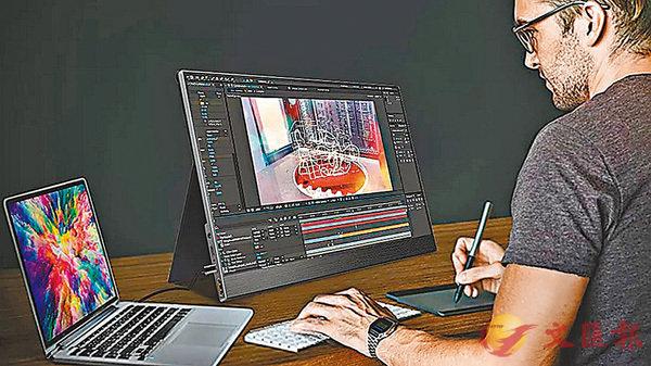 ■ZOHO便攜式USB-C外接觸控熒幕有15.6吋。