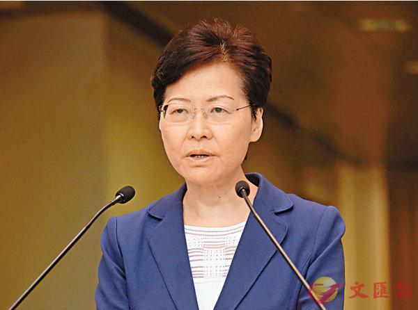 ■林鄭月娥昨日在行政會議復會前會見傳媒。香港文匯報記者  攝