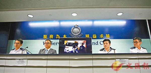 ■警方在記者會表示,共有171名警員受傷,其中一名警員被暴徒擊中頭部,導致面骨爆裂,病假已逾50天。 香港文匯報記者  攝