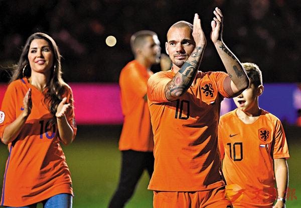 去年9月,史奈達完成了他在荷蘭國家隊的最後一戰。 路透社