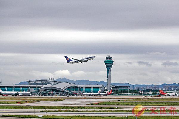 ■廣州白雲機場等鄰近香港的機場近年積極發展,增加機場吞吐量。 資料圖片