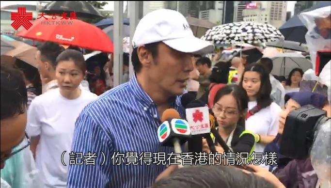 反暴力集會 |鍾鎮濤希望香港回復和諧繁榮