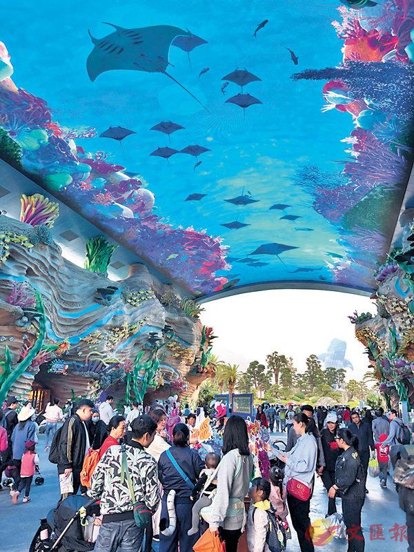 ■橫琴成為內地旅業稅收優惠政策獲批的第二個新區。圖為橫琴海洋休閒項目。 香港文匯報記者方俊明 攝