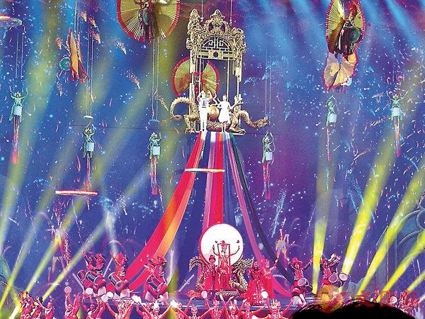 ■《龍秀》是個充滿中國表演藝術元素的表演。