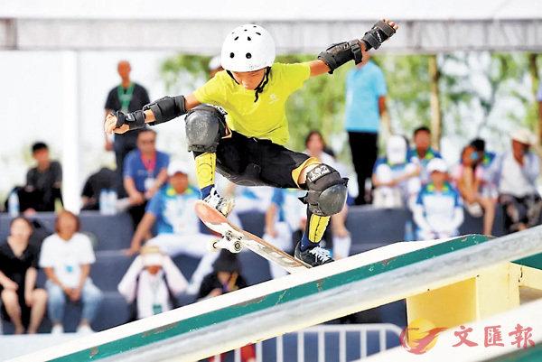 ■逾1300名運動員參加中國極限運動大會。 香港文匯報記者馮雷  攝