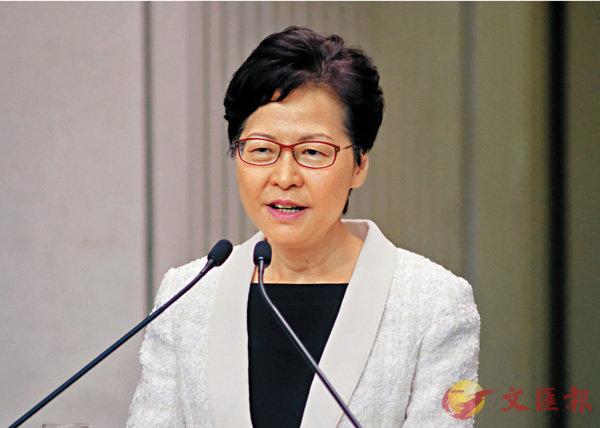 ■行政長官林鄭月娥表示,由始至終沒有向中央提出請辭。 香港文匯報記者  攝