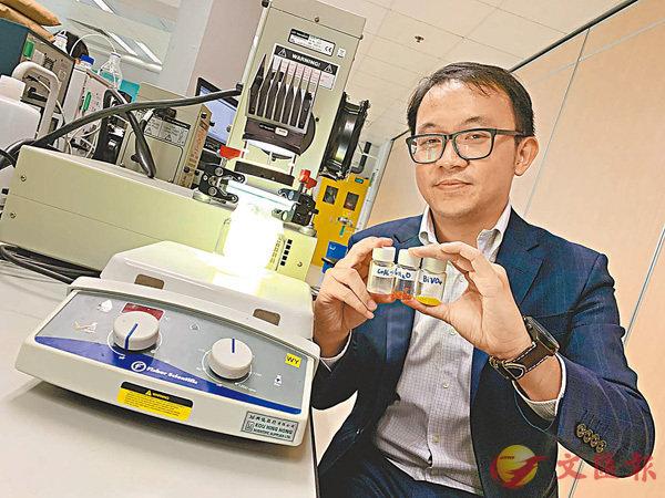■吳永豪表示,該技術從提煉到使用氫氣,全程做到「零污染」。香港文匯報記者詹漢基 攝
