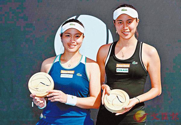 ■詹皓晴(右)擊敗姐姐晉級。  資料圖片