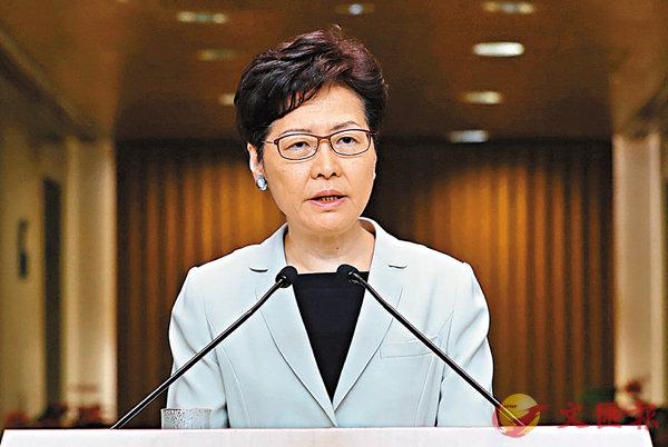 ■林鄭月娥昨日指政府將持續爭取機會與不同背景市民直接對話。 香港文匯報記者  攝