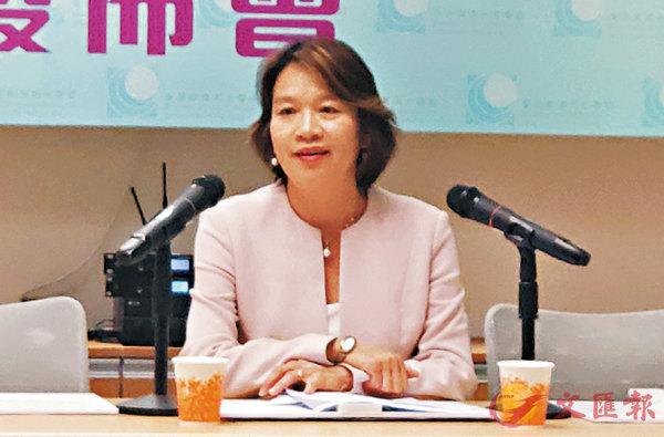 ■梁美芬在記者會上發言。 香港文匯報記者  攝