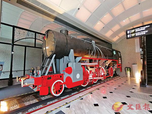 ■酒店以火車主題設計,這是進入酒店即可看到。