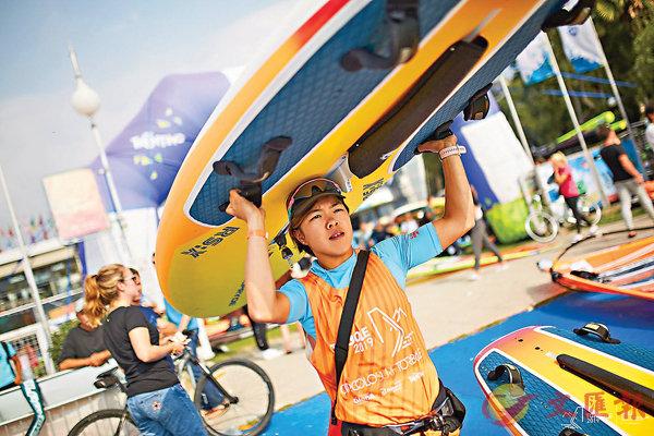 ■陳晞文在上周的RS:X滑浪風帆世錦賽獲第十名。 賽會圖片