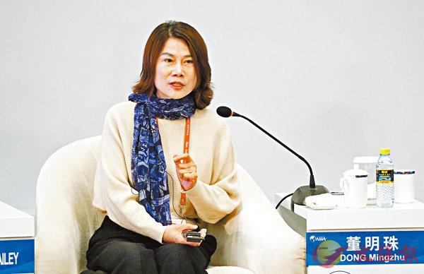 ■內地女企業家投融資渠道充裕,圖為格力電器股份董事長兼總裁董明珠。