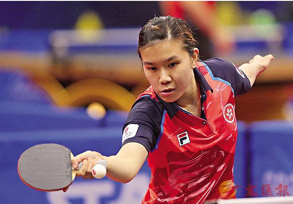 ■李皓晴於決勝一戰不敵對手。 ITTF圖片