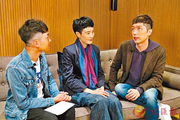 ■馬浚偉(右)與顧美華(中)異口同聲稱默契再度「昇華」。