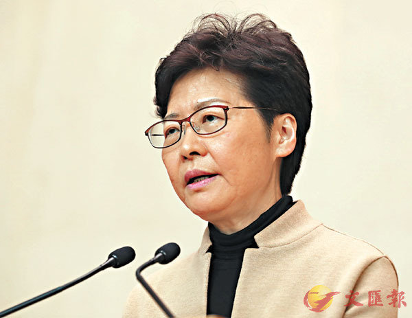 ■林鄭月娥認為引用緊急法有清晰的法律基礎。 香港文匯報記者 攝