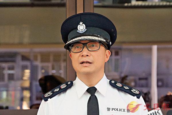 ■警務處處長鄧炳強昨日指出,警方已制訂不同預案,讓大部分市民明日能夠在和平安全的環境下投票。 香港文匯報記者 攝