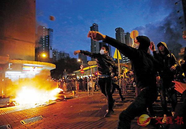■ 2016年2月9日發生的旺角暴亂。 資料圖片