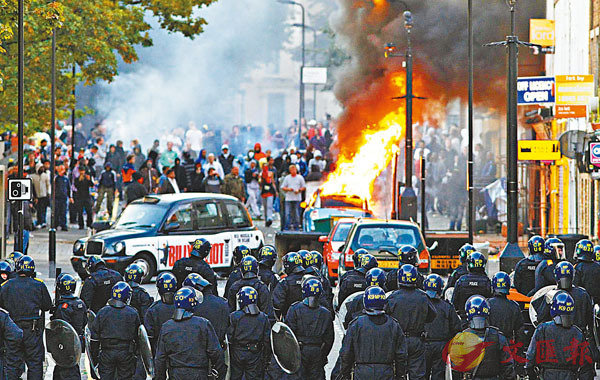 ■倫敦2011年曾發生騷亂,英國政府其後設委員會調查。 資料圖片