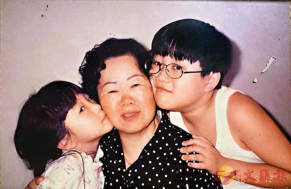 ■車淑梅一對子女與婆婆關係甚好。
