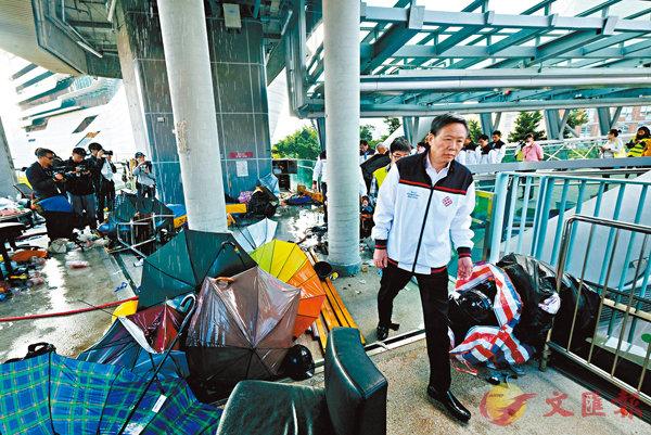 ■理大校長滕錦光表示,理大是這場危機的最大受害者。 香港文匯報記者  攝