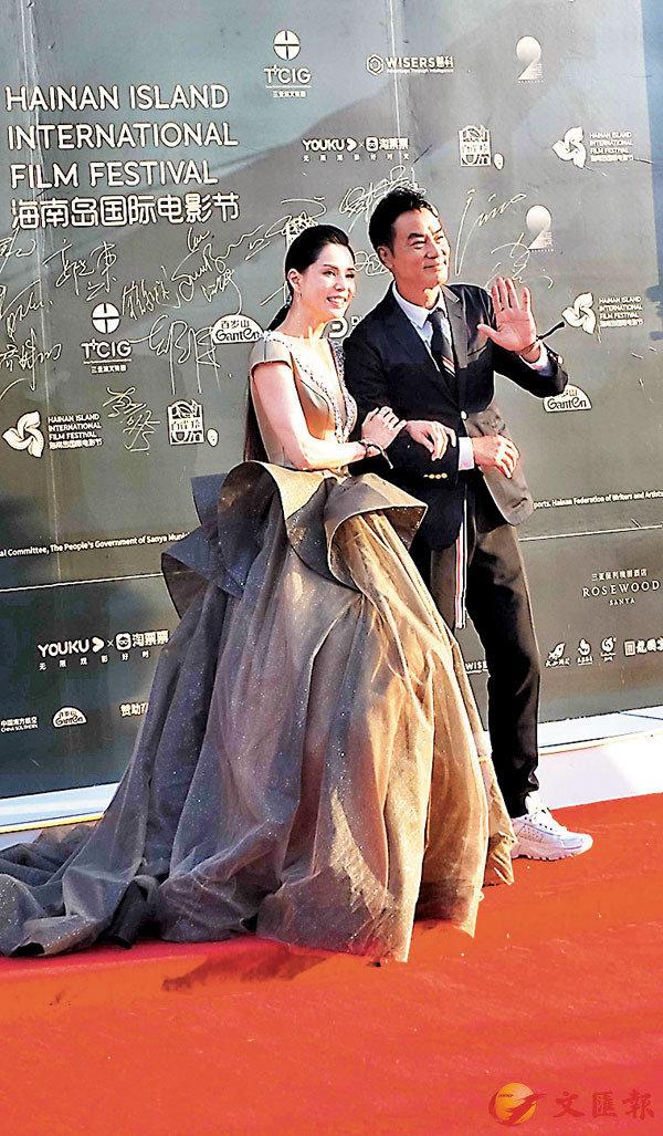 ■任達華(右)與李若彤亮相電影節紅毯儀式。