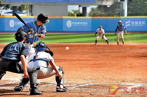 ■粵港澳大灣區青少年棒壘球賽在中山舉行。香港文匯報記者敖敏輝  攝
