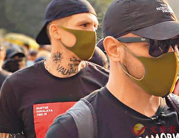 ■部分疑似烏克蘭新納粹主義者身上更刻有神秘紋身。 fb圖片